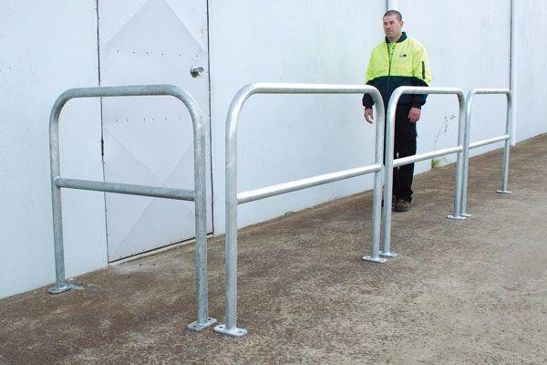 safety handrails modular barrier system. Black Bedroom Furniture Sets. Home Design Ideas