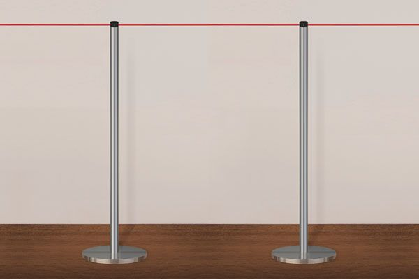 Slimline Portable Gallery Elasticated Cord Barrier